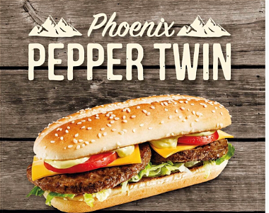 Foto Pepper twin burger